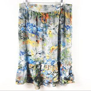 Elementz Floral Ruffle Skirt